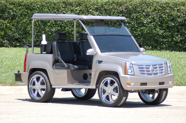 the escalade custom carts choice a for cart affordable great supreme interior cadillac golf is luxury